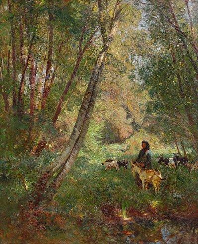STRUTZEL, Otto Leopold, (German, 1855-1930)