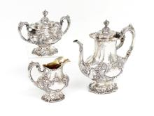 REED & BARTON FRANCIS I STERLING TEA SET
