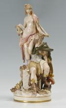 LARGE CONTINENTAL MYTHOLOGICAL PORCELAIN STATUE