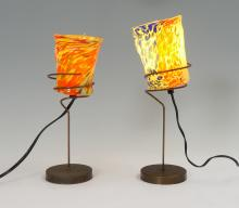 PAIR BAROVIER & TOSO GOTI LAMPS