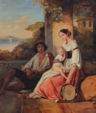 JOSEPH BEAUME GENRE PAINTING