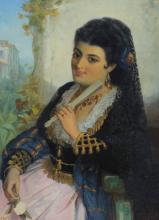 J.B. BURGESS SPANISH GIRL PAINTING