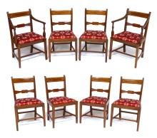 GEORGE III SET OF 8 CHAIRS