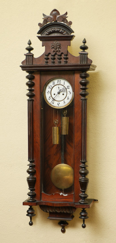 GUSTAV BECKER CARVED REGULATOR WALL CLOCK