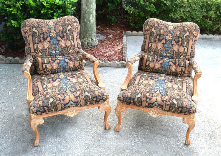 PAIR WOODMARK ORIGINALS ARM CHAIRS