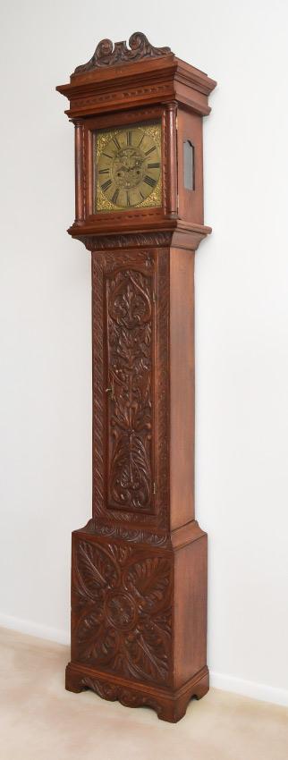 18TH CENTURY HENRY BUXTON ENGLISH LONG CASE CLOCK