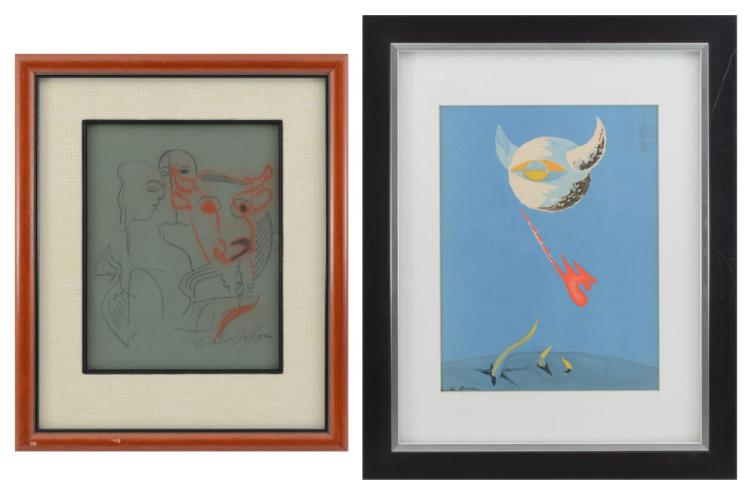 2-PIECE ANDRE MASSON LOT