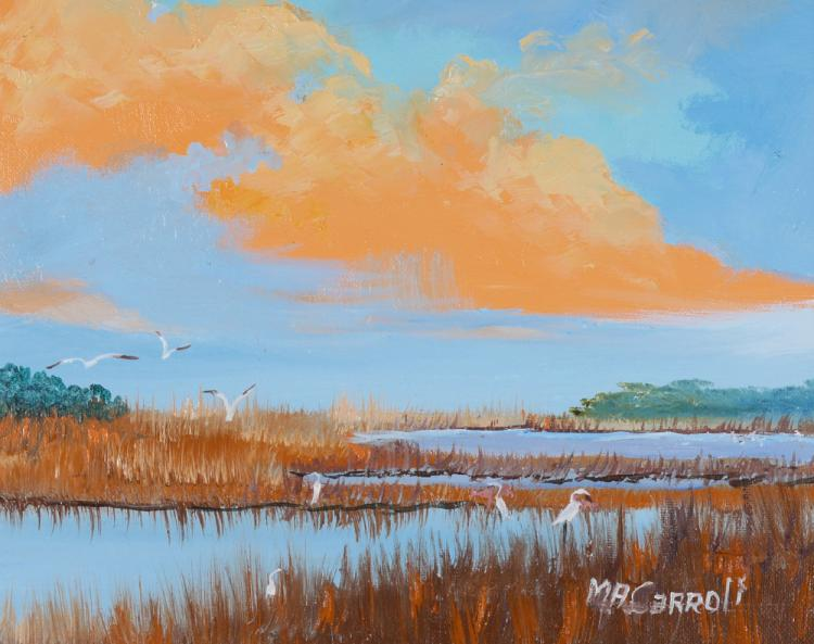 MARY ANNE CARROLL FLORIDA HIGHWAYMEN PAINTING