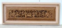 FRAMED INDO-PERSIAN DIETY CARVED WOOD PANEL