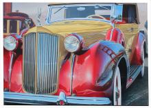GRAHAM REYNOLDS 38 PACKARD ACRYLIC PAINTING
