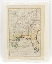 18TH CENTURY BONNE MAP OF FLORIDA & LOUISIANA