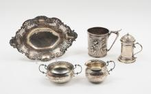 5 PIECE GORHAM SILVER LOT