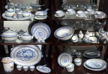 MASSIVE COLLECTION OF ORIENTAL BLUE & WHITE RICE CHINA