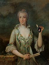 FRENCH SCHOOL 19TH C PORTRAIT PAINTING OF LADY