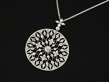 EDWARDIAN PLATINUM 5.9 CT DIAMOND NECKLACE