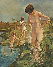 KRUMPELMAN LANDSCAPE WITH NUDES BATHING