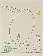 MAX ERNST ''LA CLOCHE'' ETCHING, 1967