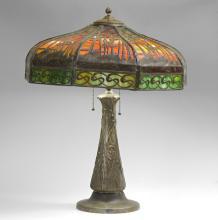 HANDEL FILIGREE PALM TREE SHADE TABLE LAMP