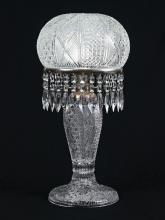 LARGE CUT GLASS TABLE LAMP