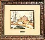 WALKER, Vivian, (Canadian, 1903-): Winter Landscape, Oil on Board SLL