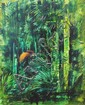 PAUL JONES NEW ZEALAND PAINTING BIRD OF PARADISE