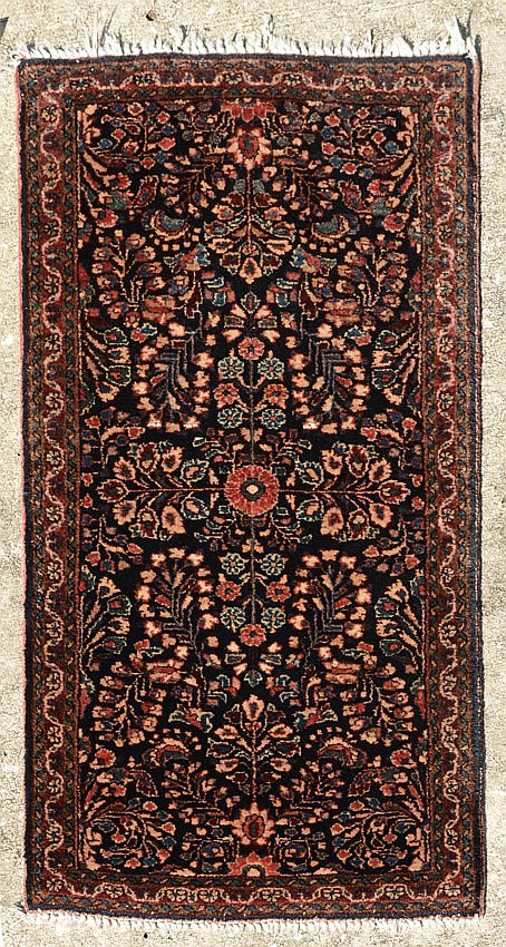SEMI-ANTIQUE PERSIAN SAROUK HAND KNOTTED WOOL RUG