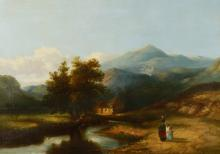 19th C ENGLISH SCHOOL LANDSCAPE PAINTING