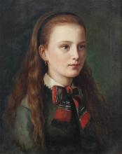 JAMES SANT PORTRAIT PAINTING OF YOUNG GIRL