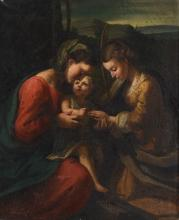MYSTIC MARRIAGE OF SAINT CATHERINE AFTER CORREGGIO