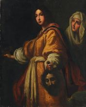 OLD MASTER STYLE PAINTING JUDITH W/HEAD HOLOFERNES