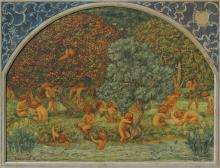 CHARLES SIMS FROLICKING CHERUBS PAINTING