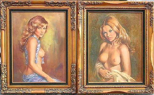 JANSEN, Leo, (American, 1930-1980): 2 Female Nude