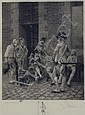 JACQUET ENGRAVING OF SOLDIERS AFTER MESSIONER