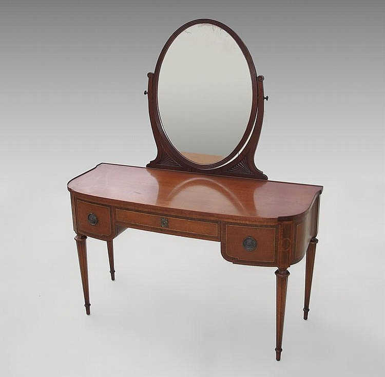 WIDDICOMB FRENCH STYLE DRESSING TABLE VANITY
