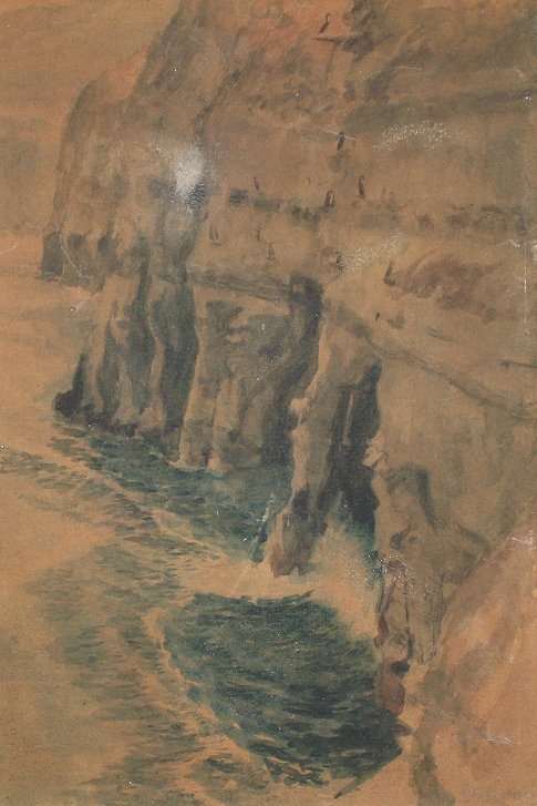 HENRY DE KRUIF PACIFIC CLIFFS PAINTING