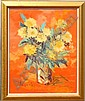 WHEATLEY, Warik, (American, 1928-): Still Life, Oil on Canvas, 30in x 24in,  signed, gold frame, 35in x 29in., Warik  Wheatley, Click for value