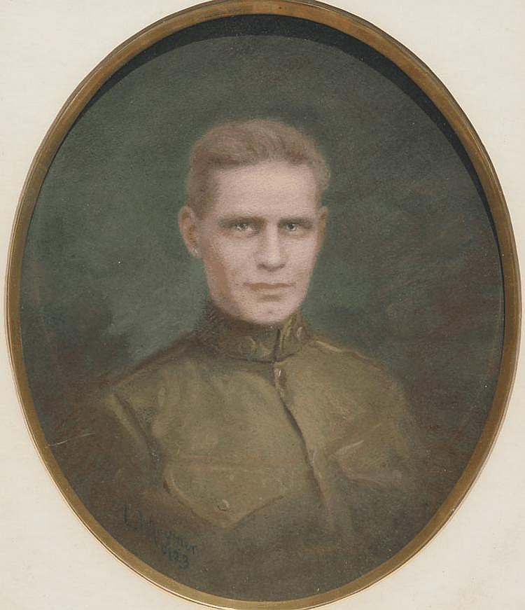 LOUIS MOUNIER SOLDIER PORTRAIT