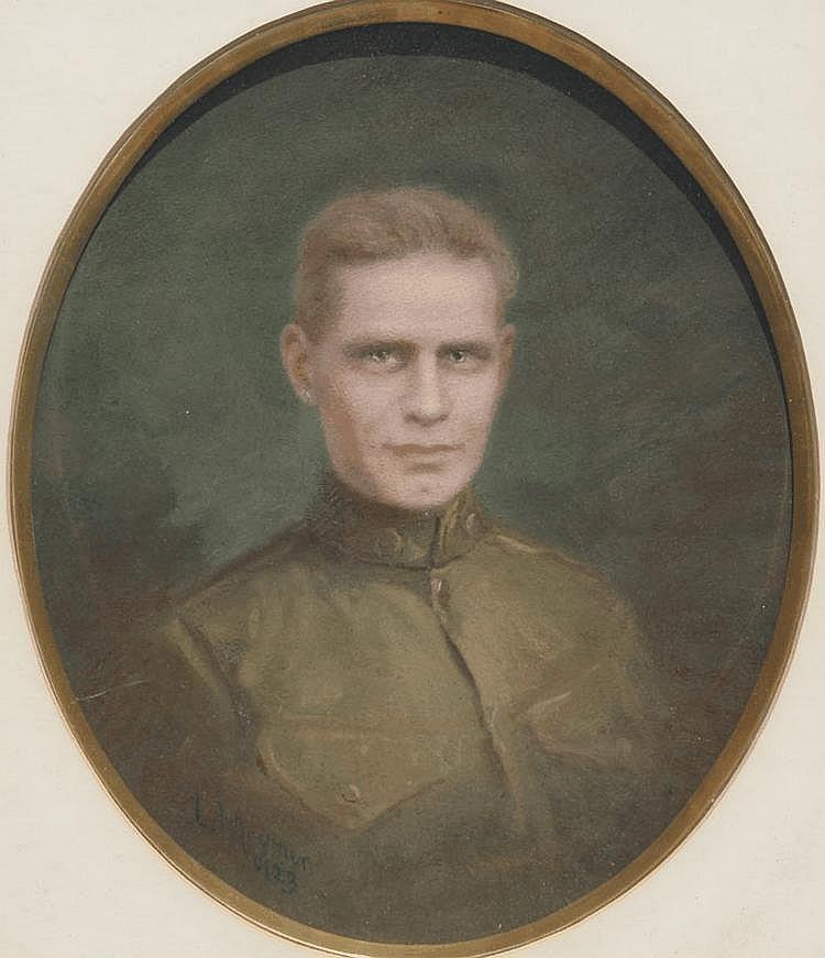 LOUIS MOUNIER SOLDIER PORTRAIT