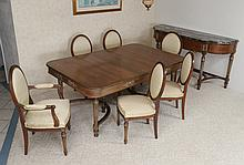 8 PIECE LOUIS XVI STYLE DINING SUITE