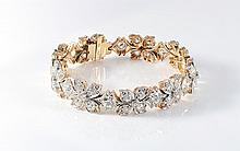 14.85 CTW DIAMOND BRACELET PLATINUM & 18K GOLD