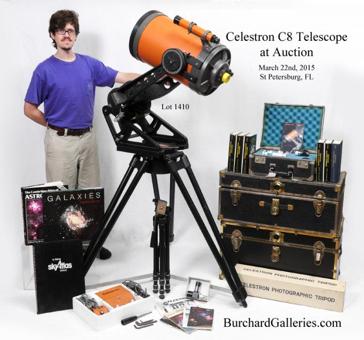 Vintage celestron c11 telescope with motorized stand for Orange motor co inc