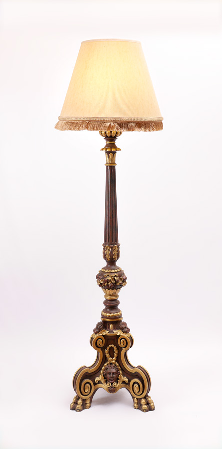 Rococo style contemporary torchiere floor lamp for Contemporary torchiere floor lamps