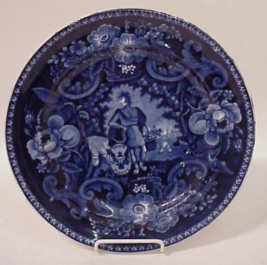 CLEWS HISTORICAL STAFFORDSHIRE BLUE PLATE