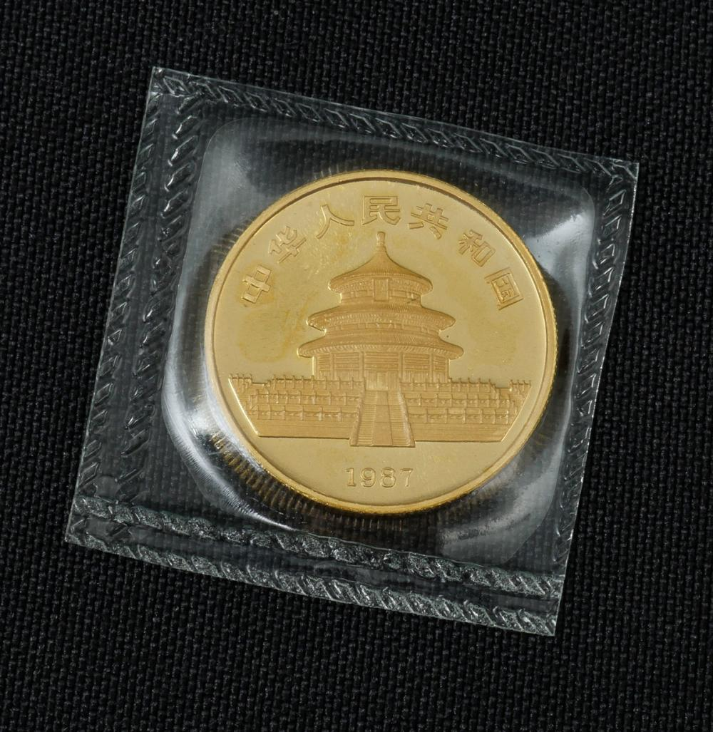 1987 CHINA 50 YUAN PANDA GOLD COIN