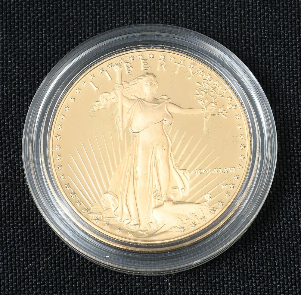 1986 $50 AMERICAN EAGLE GOLD BUILLION COIN