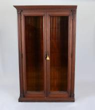 VICTORIAN CARVED BOOKCASE