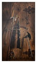 LARGE STEVENSON 19TH CENT TROMPE L'OEIL PAINTING