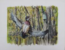 LEE CABLE DUCK STAMP PAINTING