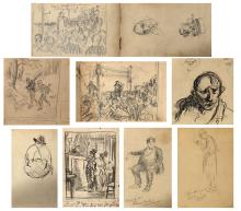 COLLECTION OF EARLY 20TH CENTURY SKETCHES