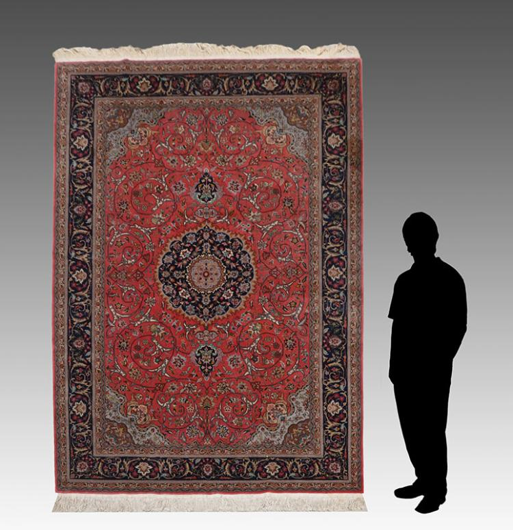 Sino Persian Hand Knotted Wool Rug 6 X 9
